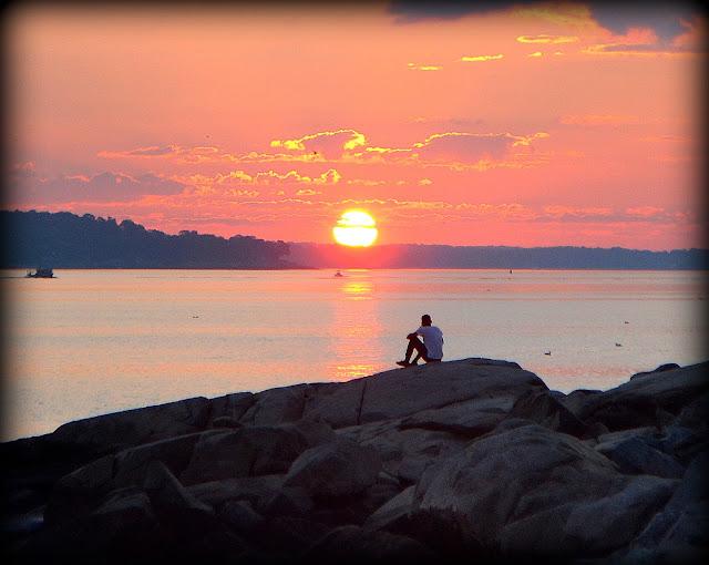 Sunrise, Salem Sound, Salem Willows, Salem, Massachusetts, sunny