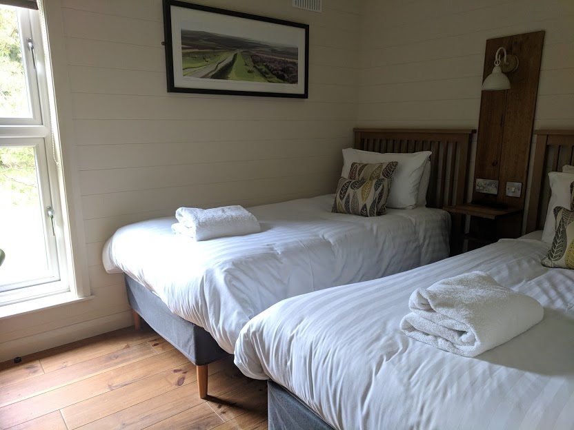 A Review of Darwin Forest & The Peak District with Tweens  - skyline view lodge in the meadows - twin bedroom