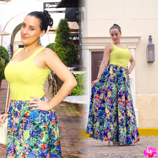 OOTD-Tropical-Paradise-A-Line-Skirt