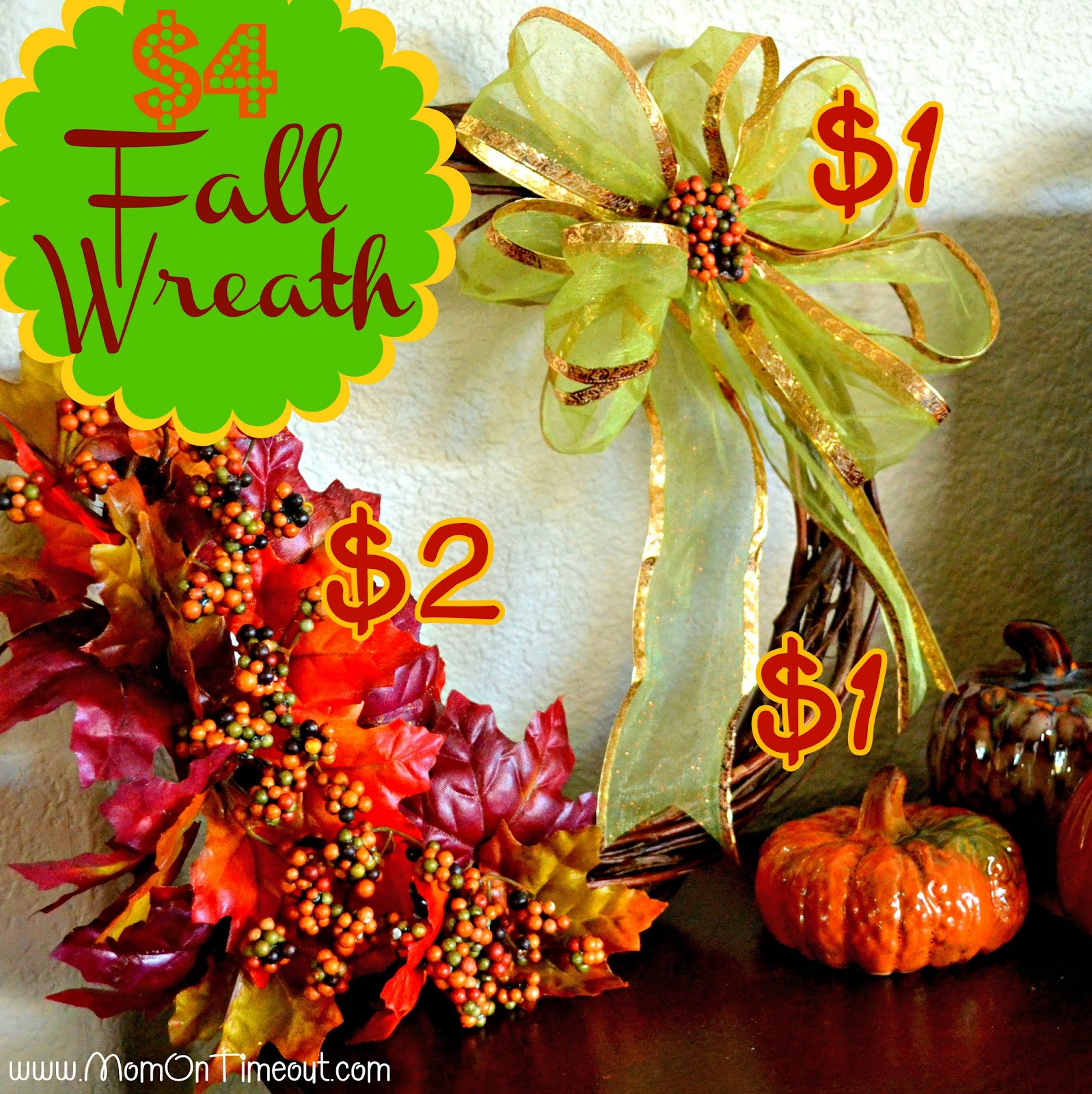 dollar tree fall craft ideas 4 fall wreath dollar tree craft on timeout 12135