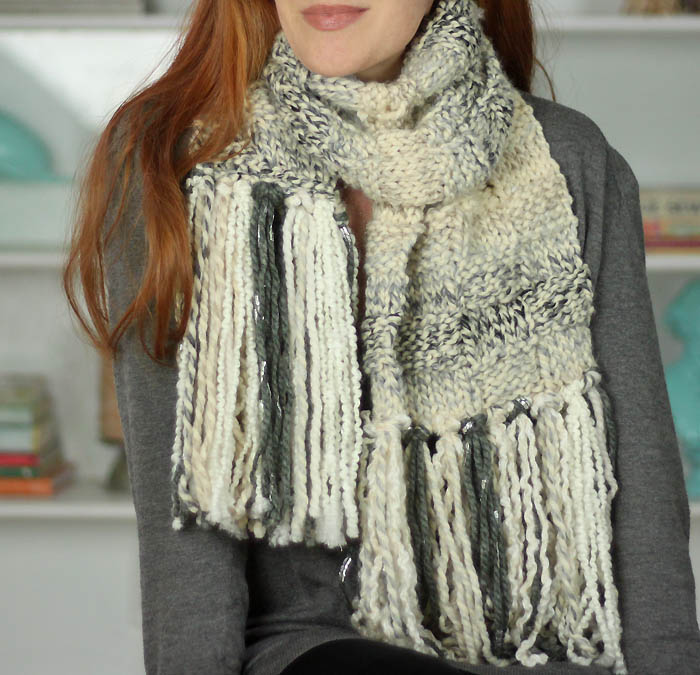 Free Knitting Pattern For Basket Weave Scarf : Basketweave Scarf Free Knitting Pattern - Gina Michele