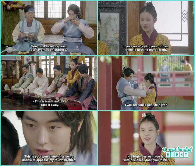 hae soo withthe help of baek ah make every one favourite tea and drink- Moon Lover Scarlet Heart Ryeo - Episode 8 - Review