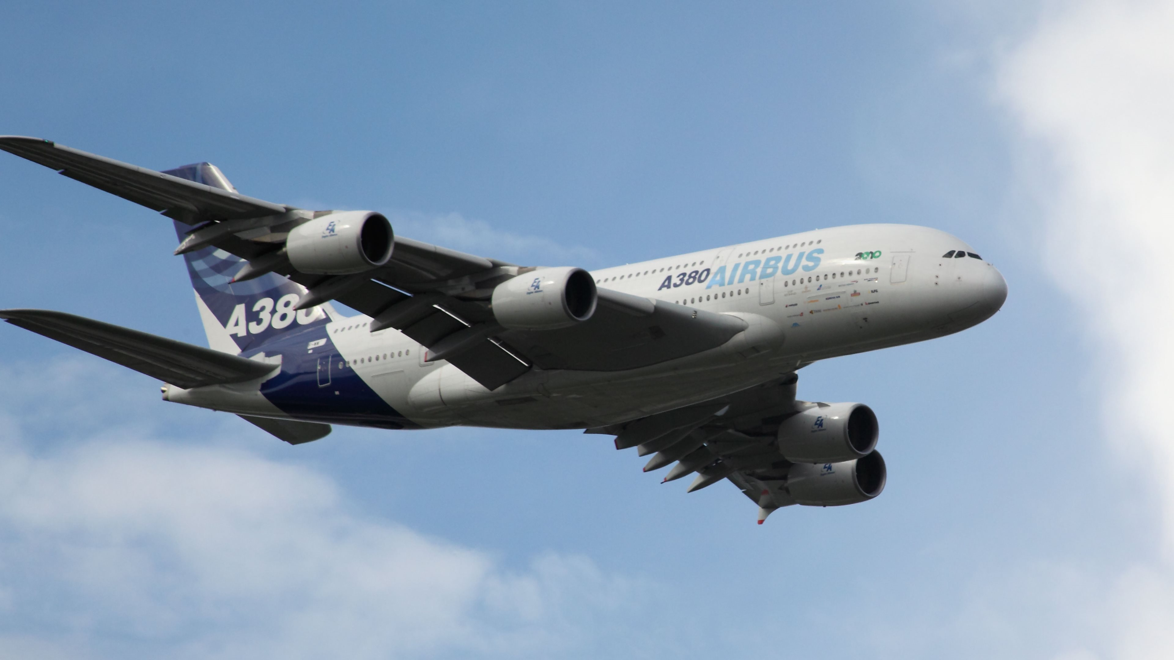 Airbus a380 airshow wallpapers in hd 4k and wide sizes