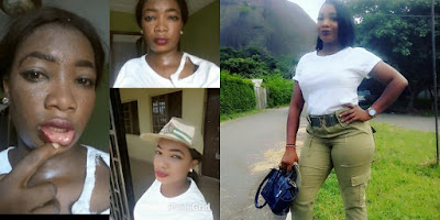Photo of a female NYSC member