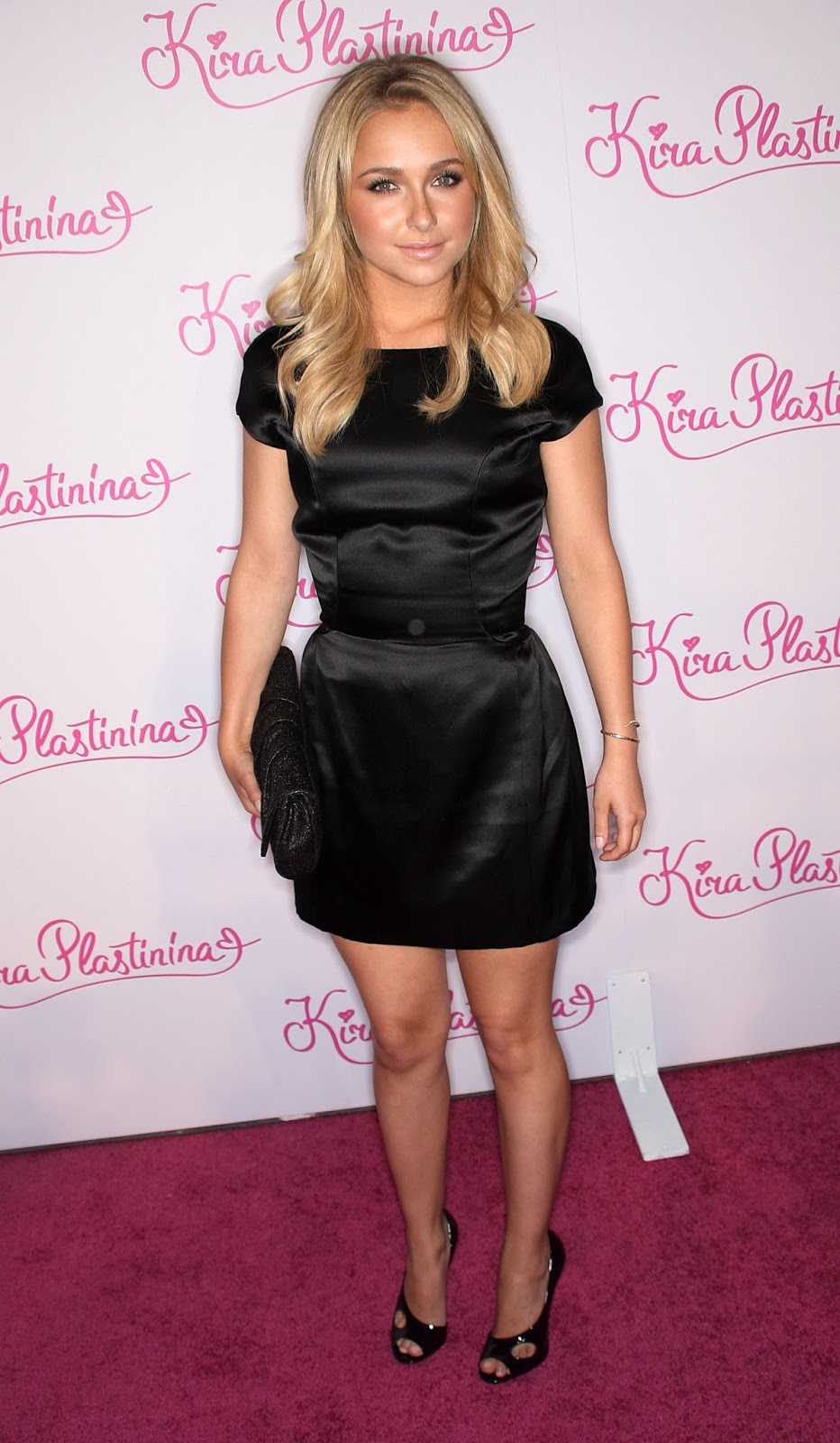 Ladies In Satin Blouses Hayden Panettiere Black Satin Dress