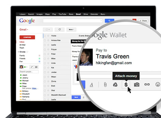 Send money to friends with Gmail and Google Wallet