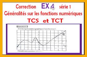 Correction  Exercice4  série 1 généralités sur les fonctions numériques tronc commun biof tcs et tct -prof elmoudene