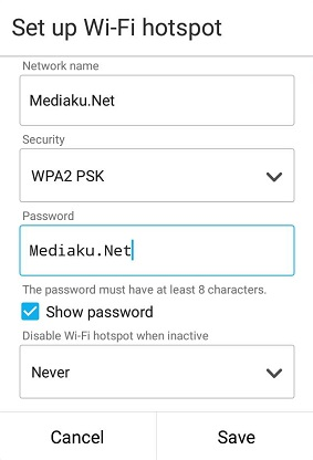 Hotspot HP Asus ZenFone