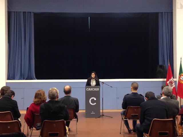 a presidente do GIPA a discursar na inauguração das obras de requalificação