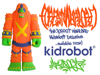 Kidrobot Exclusive Orange Forest Warlord Vinyl Figure by Bigfoot One