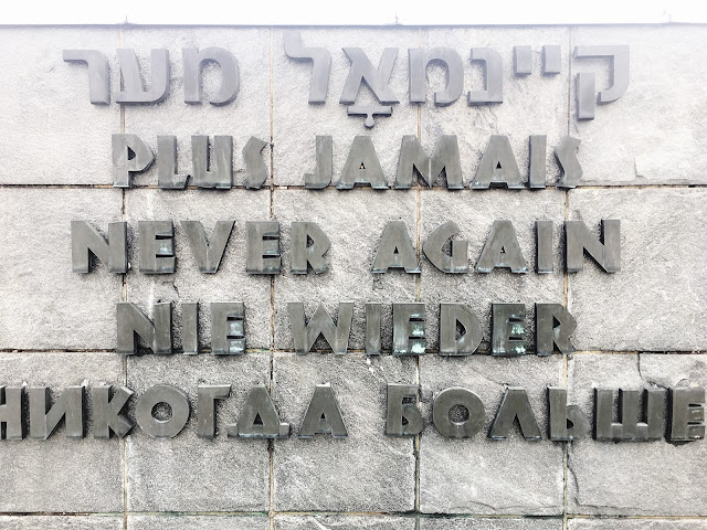 """never again"" WWII quote"
