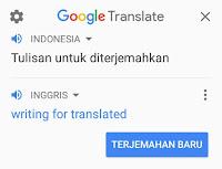 Terjemahan Cepat dari Google Translate