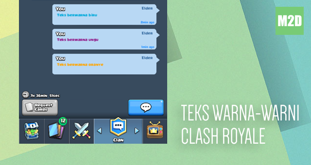 Teks Warna-warni di Clash Royale