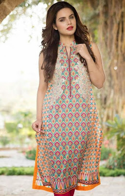 Latest-indian-summer-kurti-designs-with-lace-for-women-3