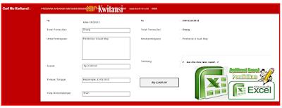 Aplikasi Akutansi Plus Kwitansi Versi Berbeda - File Arsip Bendahara.