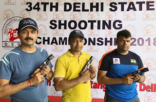 DCP Sanjeev Yadav and Journalist Farid Ali won Gold medals in Shooting