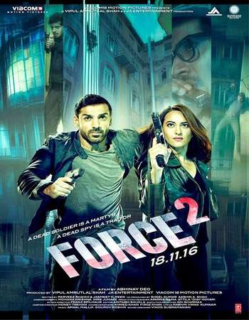 Poster Of Force 2 2016 Hindi  300MB  720p HEVC Watch Online Free Download world4ufree.org