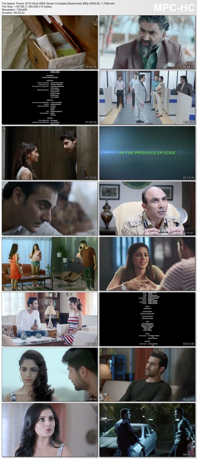 Poison 2019 Hindi WEB Series Complete 480p WEB-DL 1.1GB Desirehub