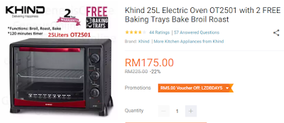 Lazada Birthday Festival Blogger Contest, Birthday Festival Sale, Lazada Malaysia, Anniversary Lazada Yang Ke - 6, Blogger Contest By Lazada, April, 2018, Electric Oven,