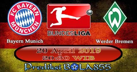 Prediksi Bola855 Bayern Munich vs Werder Bremen 20 April 2019