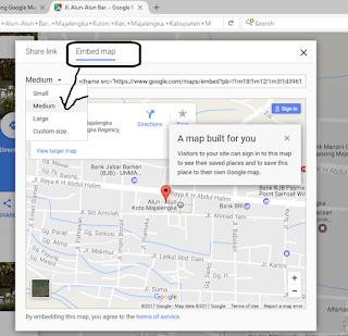 Cara Pasang Google Map di Postingan Blog