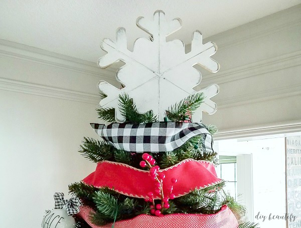 an easy tutorial to make an inexpensive christmas tree topper - How To Make A Christmas Tree Topper