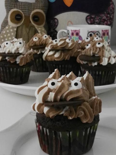 Muffins mit Sahne Schokocreme