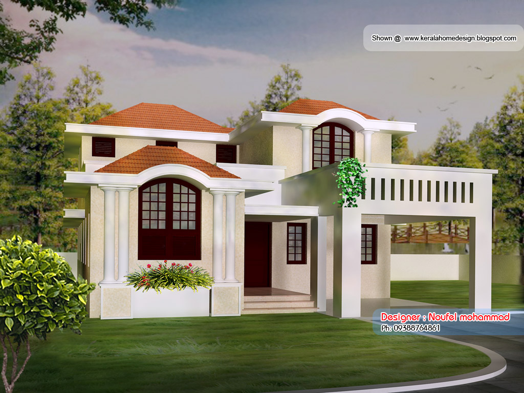 Home plan and elevation 1900 sq ft kerala home design New home designs in india