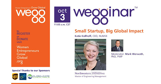 "Today in Global Small Business: wegginar® ""Small Startup, Big Global Impact"""