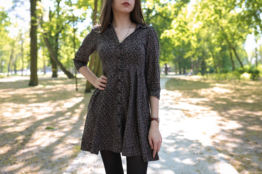 sukienka w kwiatki hm blog