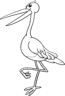 Printable Stork Coloring Sheet For Kids