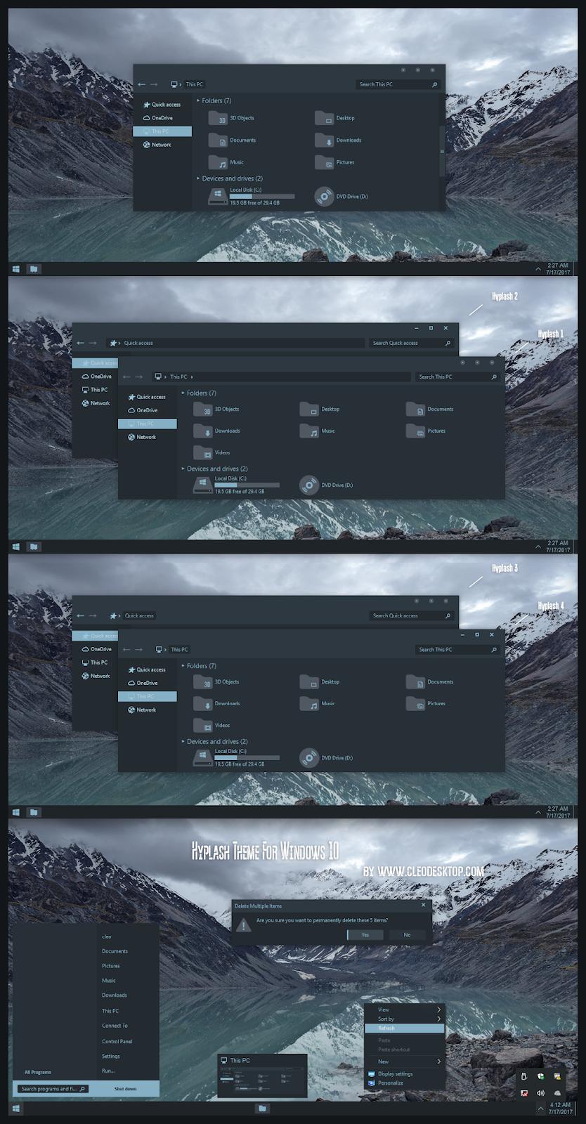 Hyplash Flat Theme Windows10 May 2019 Update 1903