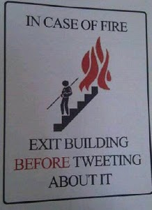 exit before tweeting about it