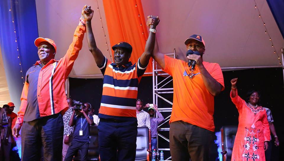 Joho and ODM selects Raila for state house race at Mamangina.[Photo by George]