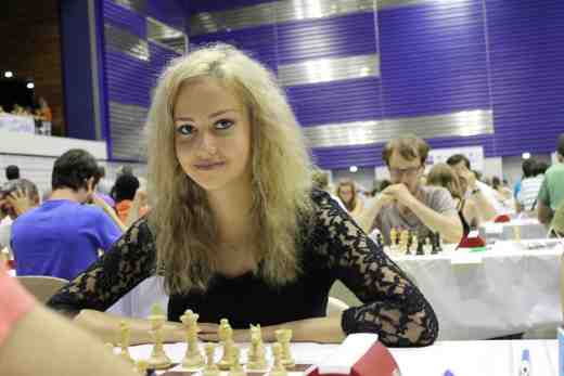 Cécile Haussernot lors du championnat de France d'Agen 2016 - Photo © Chess & Strategy