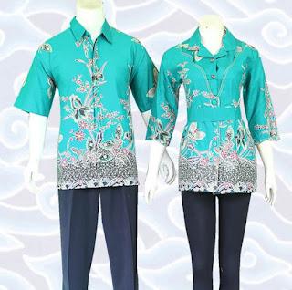 model baju batik couple anak muda elegan