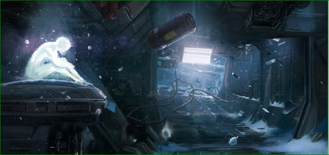 Cortana on the forward unto dawn artwork