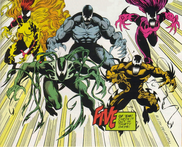 5 Simbiontes de Marvel: Grito, Lasher, Riot, Phage