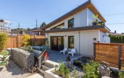 Tampak Depan Rumah Minimalis 2 Lantai amerika