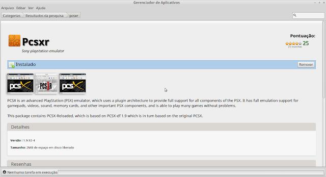 Como instalar o emulador Pcsxr para play1 no linux