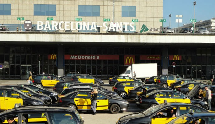 Barcelona Sants, estación de metro, trenes y buses