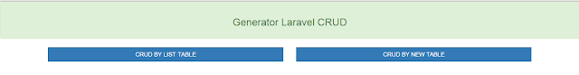 LARAVEL 5 CRUD GENERATOR WITH BUBBLEGENERATOR