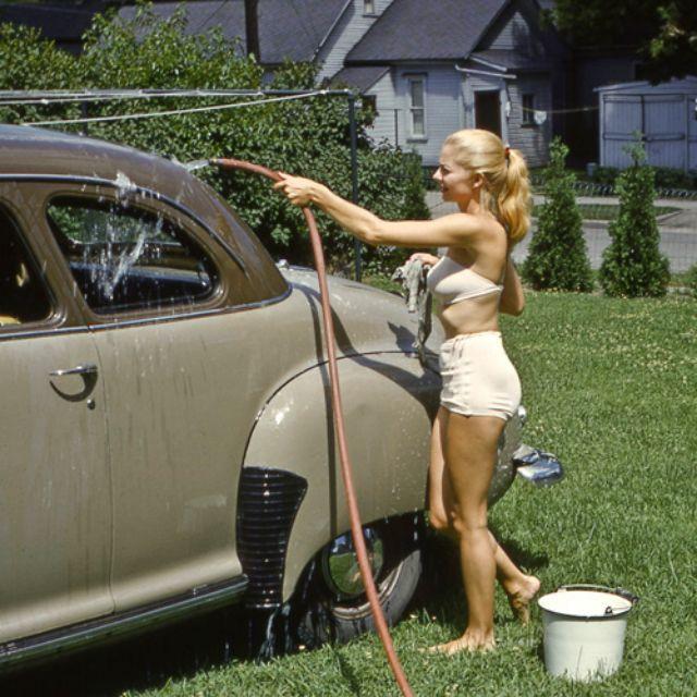 Washing the Car '1953