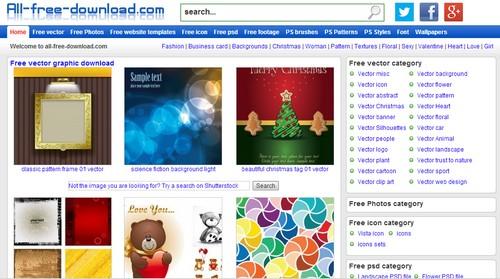 أفضل 10 مواقع لتحميل الفكتور مجانا موقع All Free Download - مدونة Blog4Prog