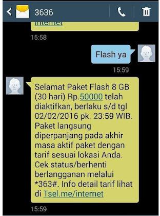 sms balasan dari Telkomsel
