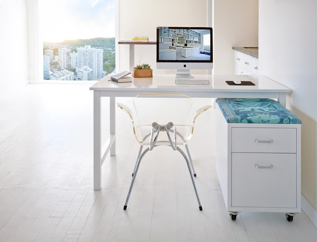 best buy white modern home office desk Perth for sale