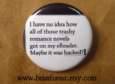 Romance Lover Pin or Magnet on Etsy courtesy of Tomes and Tequila Blog
