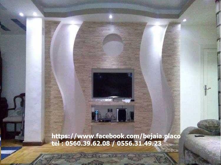 meuble tv en placo elegant niche tv placo fenrez com. Black Bedroom Furniture Sets. Home Design Ideas
