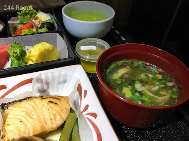 JALビジネスクラスシート機内食5 Business class flight meal