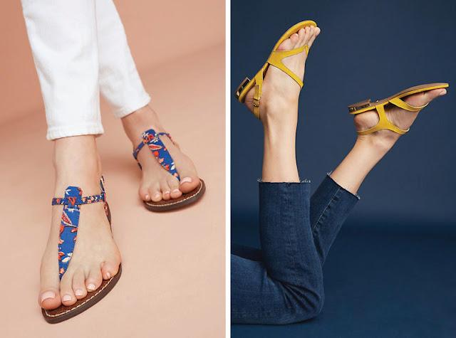 Цветные минималистские сандалии